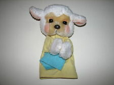 VTG Applause Preschool Fisher Price Plush Lamb Sheep Hand Puppet w  Blanket 1989