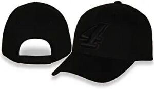 Kevin Harvick 2021 Checkered Flag Blackout #4 Nascar Black Hat / Cap