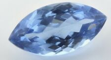LARGE 16x8mm MARQUISE-FACET SWISS-BLUE NATURAL BRAZILIAN TOPAZ GEM (APP £111)