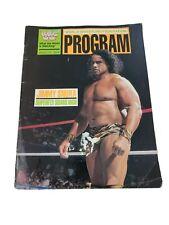 Jimmy Superfly Snuka World Wrestling Federation Program WWF Vintage 1989