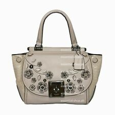 PRICE DROP! Coach Drifter Top Handle Satchel Willow Floral Print Leather Birch