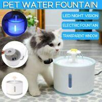 2.4L LED Automatische, Elektrische Haustier Wasserbrunnen Hund/Katze Trink Napf