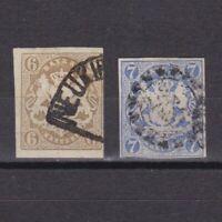 GERMAN BAVARIA 1868, Mi#20-21, CV €76, Used