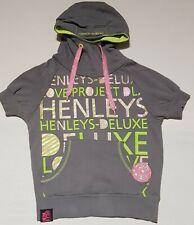 New listing Womens Henleys Hoodie Size 1 Grey Jumper short sleeved sweatshirt
