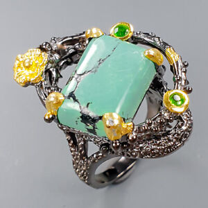 Fine art Jewelry Turquoise Ring Silver 925 Sterling  Size 7 /R151084