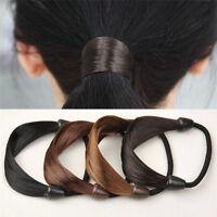 Women Girls Elastic Headband Wig Hair Band Ponytail Holder Hair Tie Hair Rope