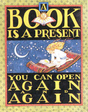 Book Is A Present-Handcrafted Reading Fridge Magnet-w/Mary Engelbreit art