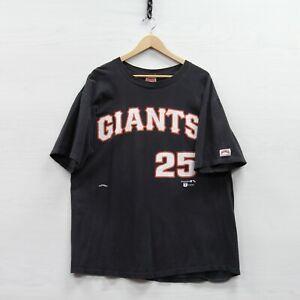 Vintage Barry Bonds #25 San Francisco Giants Nutmeg T-Shirt XL Black 90s MLB