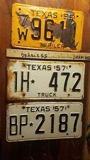 1955 1957 car Truck Texas Plates  VINTAGE ANTIQUE Rat Rod CLASSIC License set 3
