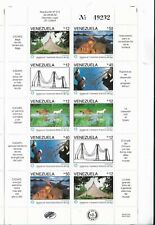 VENEZUELA 1992 ELECTRIC SERVICE CADAFE MINIATURE SHEET 10 VALUES MINT NH VF
