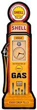 Shell Gas Station Motor Oil Gasoline Pump Metal Sign Man Cave Garage Barn 027
