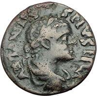 ELAGABALUS 218AD Genuine Parion Parium Mysia Ancient Roman Coin CAPRICORN i65147