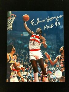 "Elvin Hayes Signed ""HOF 90"" Autographed Photo - COA - Washington Bullets"