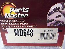 Parts Master MD648 Disc Brake Pad Set Semi-Metallic L@@K FREE Shipping!!