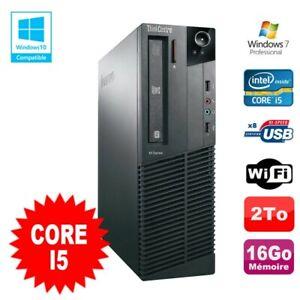 PC Lenovo Thinkcentre M81 SFF Core I5-2400 16Go 2To Graveur WIFI Win 7 Pro