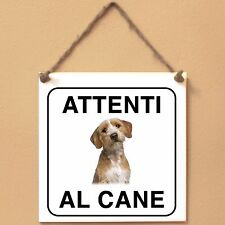 Basset Fauve de Bretagne 3 Attenti al cane Targa piastrella cartello ceramic