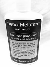 2 Bottles 120ml Each Depo Melanin - Mens Hair and Scalp Treatment No More Gray