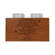 Personalized Memorial Wooden Candle Double Holder A Heart Of Gold 4x7