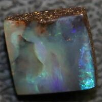 3.85 cts Australian Boulder Opal Cut Loose Stone