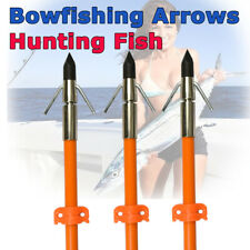 3x Bow Fishing Arrows Fish Safety Slides Hunting Broadheads Point Tips Us Stock