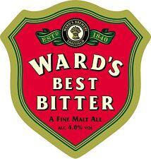 Framed Print - Real Ale Pump Clip Ward's Best Bitter Malt Ale (Picture CAMRA)