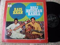 RAIS KHAN SITAR BRIJ BHUSHAN KABRA GUITAR ODION EMI S-MOCE 1206 INDIA