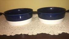 "Boots & Barkley. Blue & White. 8.5"" Dog Bowls. Slide Resistance Very Nice!!"
