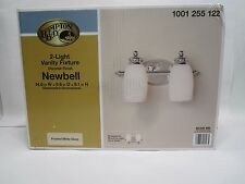 Hampton Bay 2 Light Chrome Bath Bar With Frosted White Glass 1001255122