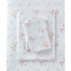 Rachel Ashwell Simply Shabby Chic Queen Sprinkles Sheet Set Polyester Pink Flora