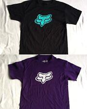 Fox Racing Kids Fox Kids Lot of 2 T-Shirt Front Logo Multi Colored Size M
