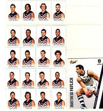 AFL 2015 Fremantle Dockers footy players 20 stamp tabs & captain collector card