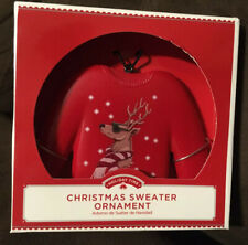 Christmas Sweater Ornament Decoration - Reindeer w/ Shades by Holiday Time *New*