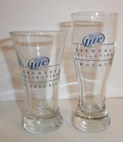 Lot of 2 Miller Lite Beer Brewers Collection Wheat Blonde Ale Shot Glasses