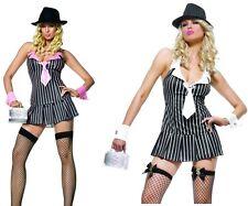 Sexy Miss Mafia Costume, Leg Avenue, Gangster, Gangsta, White, Pink, Mob, Moll