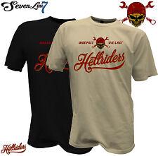 T-Shirt Bikershirt Hellrider Biker Motorrad Werkstatt Skull Tattoo HotRod Harley