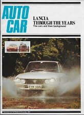 1974 Lancia supplement reprinted from Autocar, including Fulvia Coupé road test
