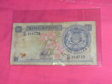 Old 1 dollar Singapore note - Orchid series HSS WITH RED SEAL C/30 214725