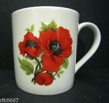 Extra Large Fine Bone China One Pint Pot Mug Poppy