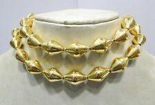 Vintage antique 22k Gold beads necklace Rajasthan India