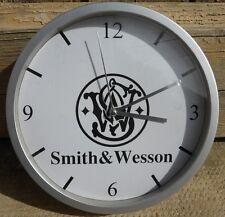 SMITH und WESSON wanduhr uhr 20cm ( GESCHENK DKO WAFFE Waffe USA SW 357 )