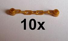 Lego 10 goldene Ketten 5 Glieder Kette in gold pearl gold Chain  Neu