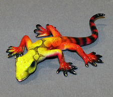 Gorgeous Bronze Lizard Gecko Figurine Statue Sculpture Reptile Art Signed & Numb