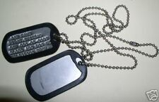 DOG TAGS, MILITARY ID TAGS, PERSONALIZED, FULL SET, U.S. ISSUE *NEW*