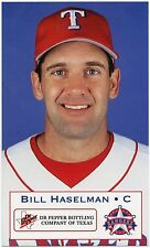 2000 Texas Rangers Dr. Pepper #14 Bill Haselman SGA