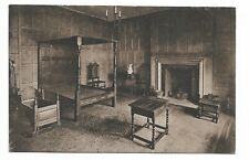 Strangers Hall Norwich - Panelled Room with Elizabethan Bed Old Postcard 695S