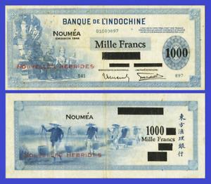 New Hibrides 1000 francs 1944 UNC - Reproduction