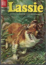 LASSIE (M-G-M's) #25 DELL 12/55 MOVIE & TV COLLIE DOG 3+ STORIES PAINTED CVR VG+