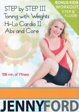 JENNY FORD DVD 5 WORKOUTS STEP BY STEP 3, HI LO CARDIO 2, TONING WITH WEIGHTS, +