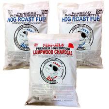 MIX 20kg PENBEAD  BBQ Barbecue Briquettes  PLUS 5kg Hardwood Lumpwood Charcoal