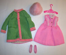 Vintage #1747 SKIPPER PINK PRINCESS Coat & Dress Outfit Barbie 1970s